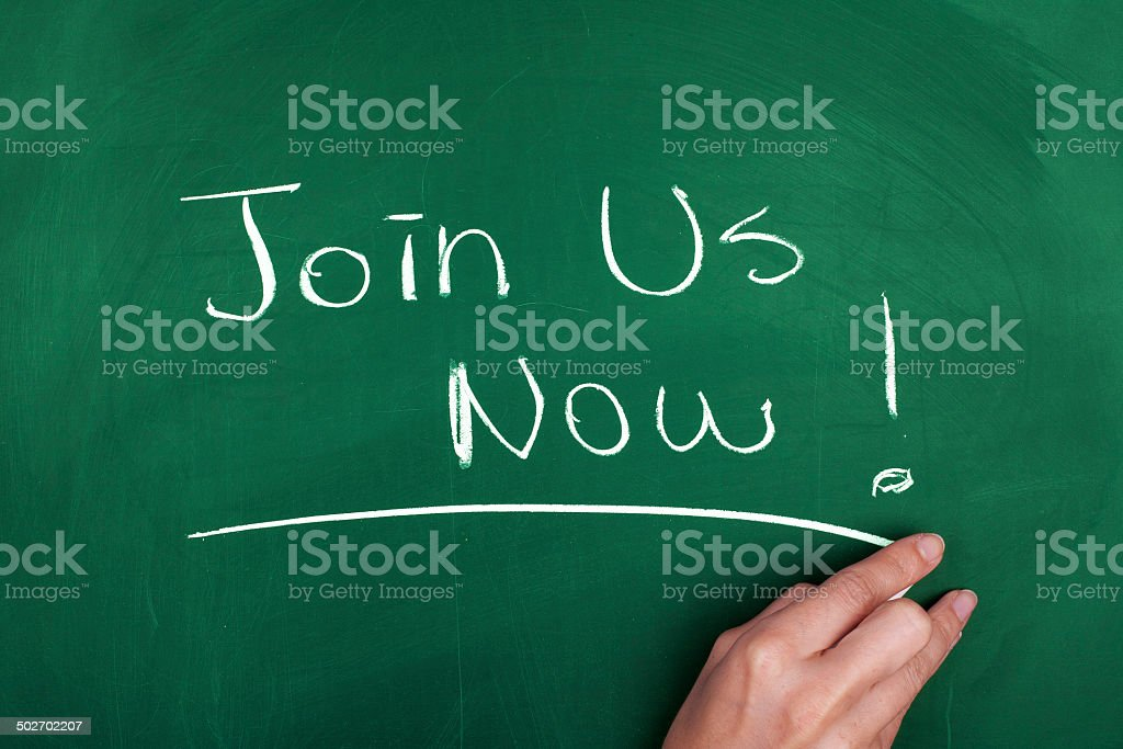 Join Us Now! stock photo