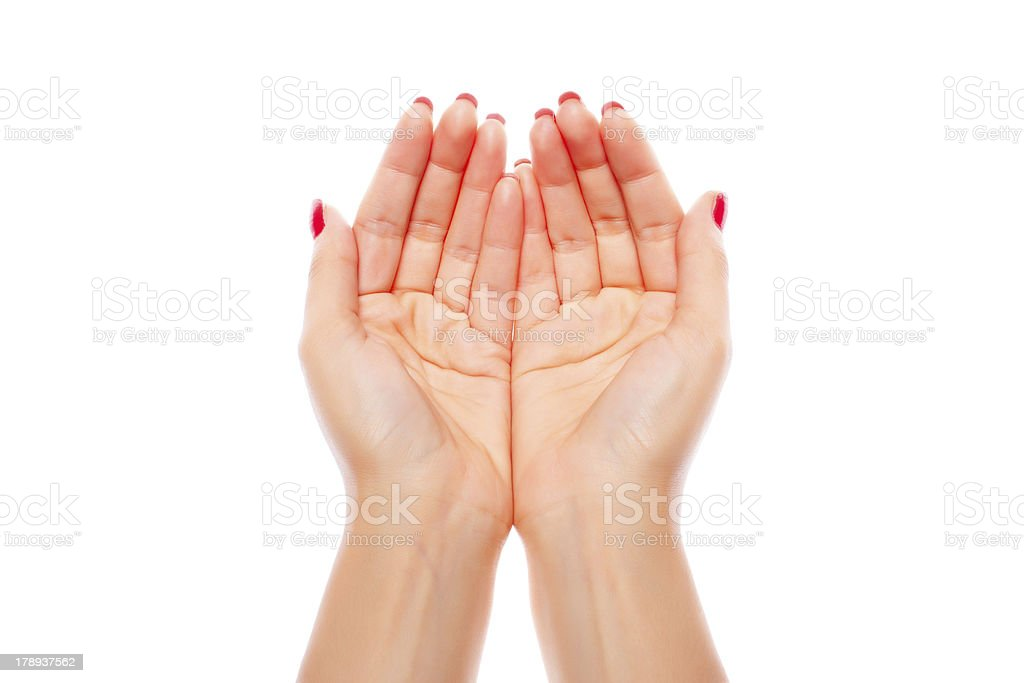 Joined female hands royalty-free stock photo