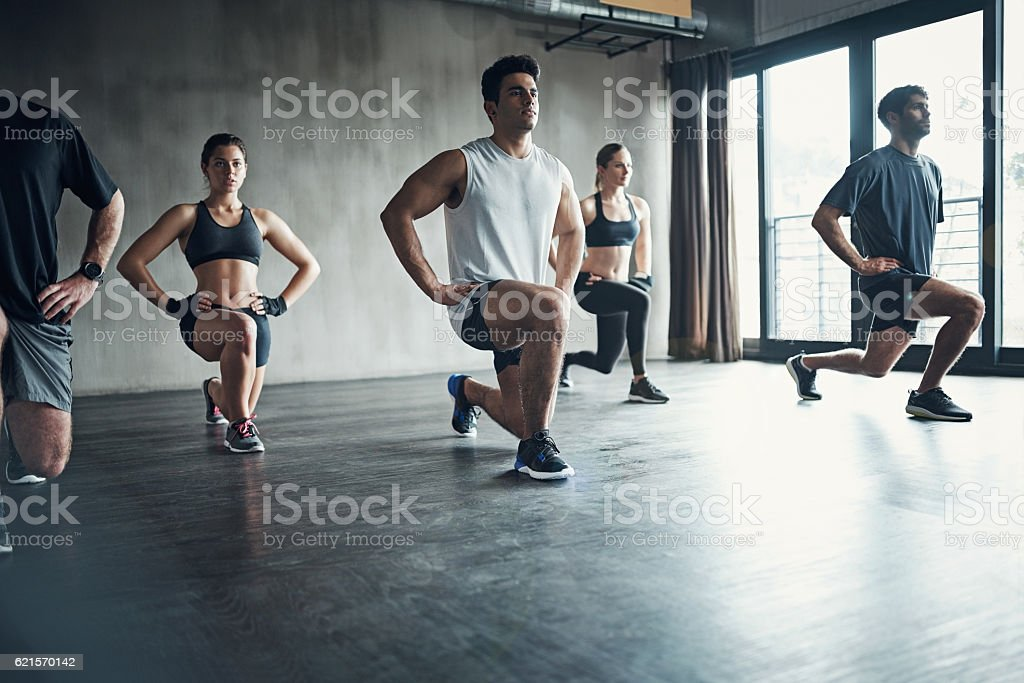 Joining a workout group will keep you motivated photo libre de droits