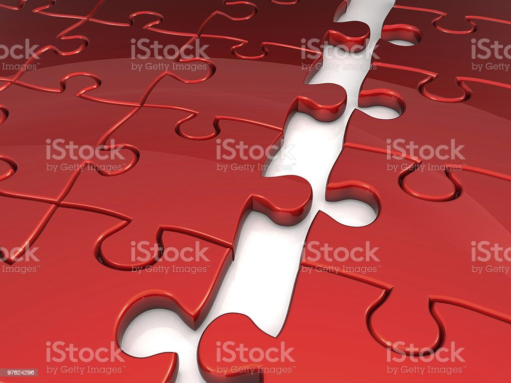 Joining puzzle business concept royalty-free stock photo