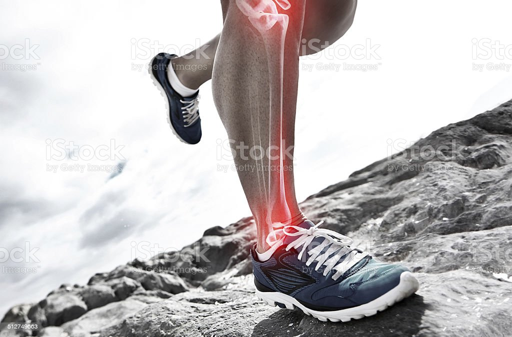 Joint jarring run stock photo