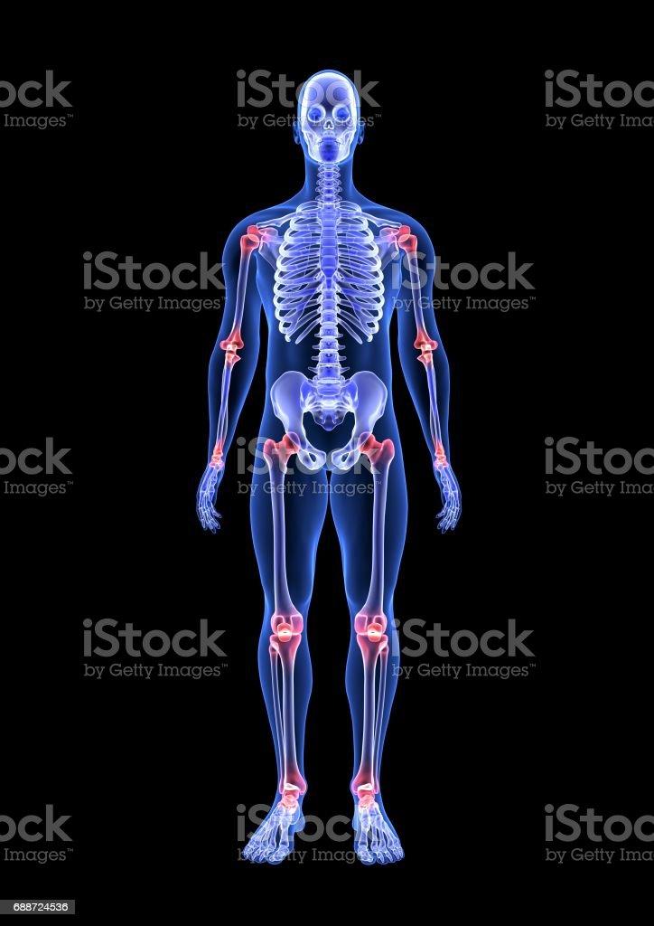 Fotografía de Dolor En Las Articulaciones Azul Cuerpo Humano ...