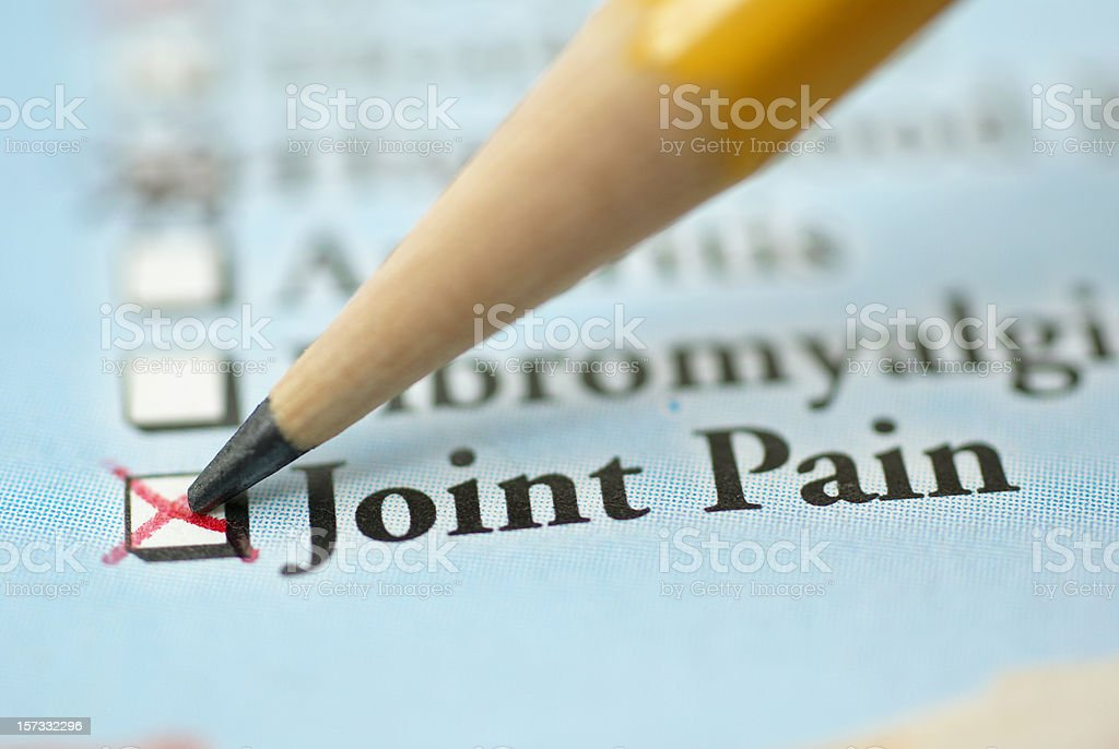 joint pain-medical chart royalty-free stock photo