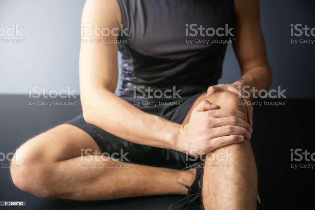 Joint pain-Sports injuries stock photo