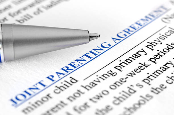 Joint parenting agreement stock photo