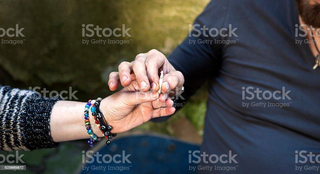 Joint smoking marijuana stock photo