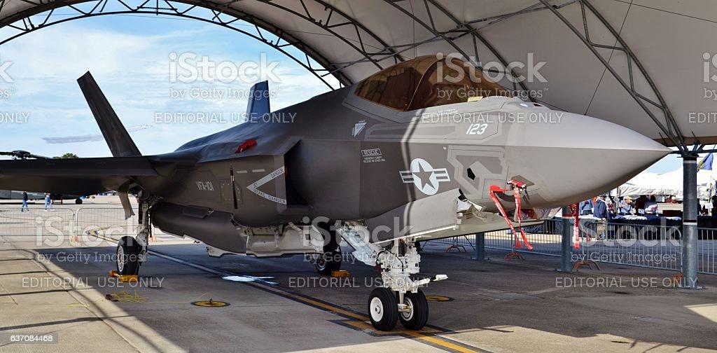 Conjunto F - 35 huelga de los combates  - foto de stock