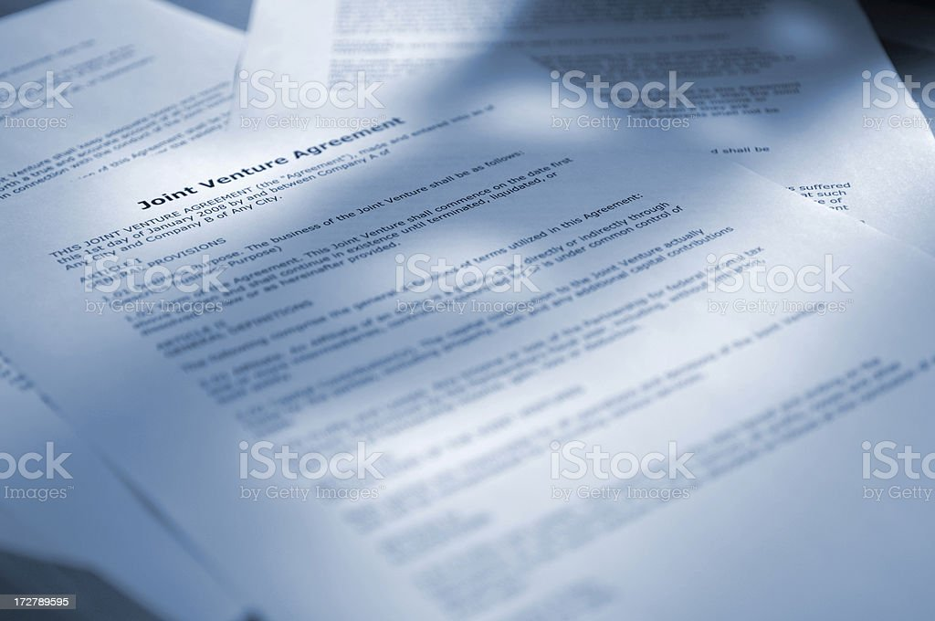 joint venture agreement royalty-free stock photo