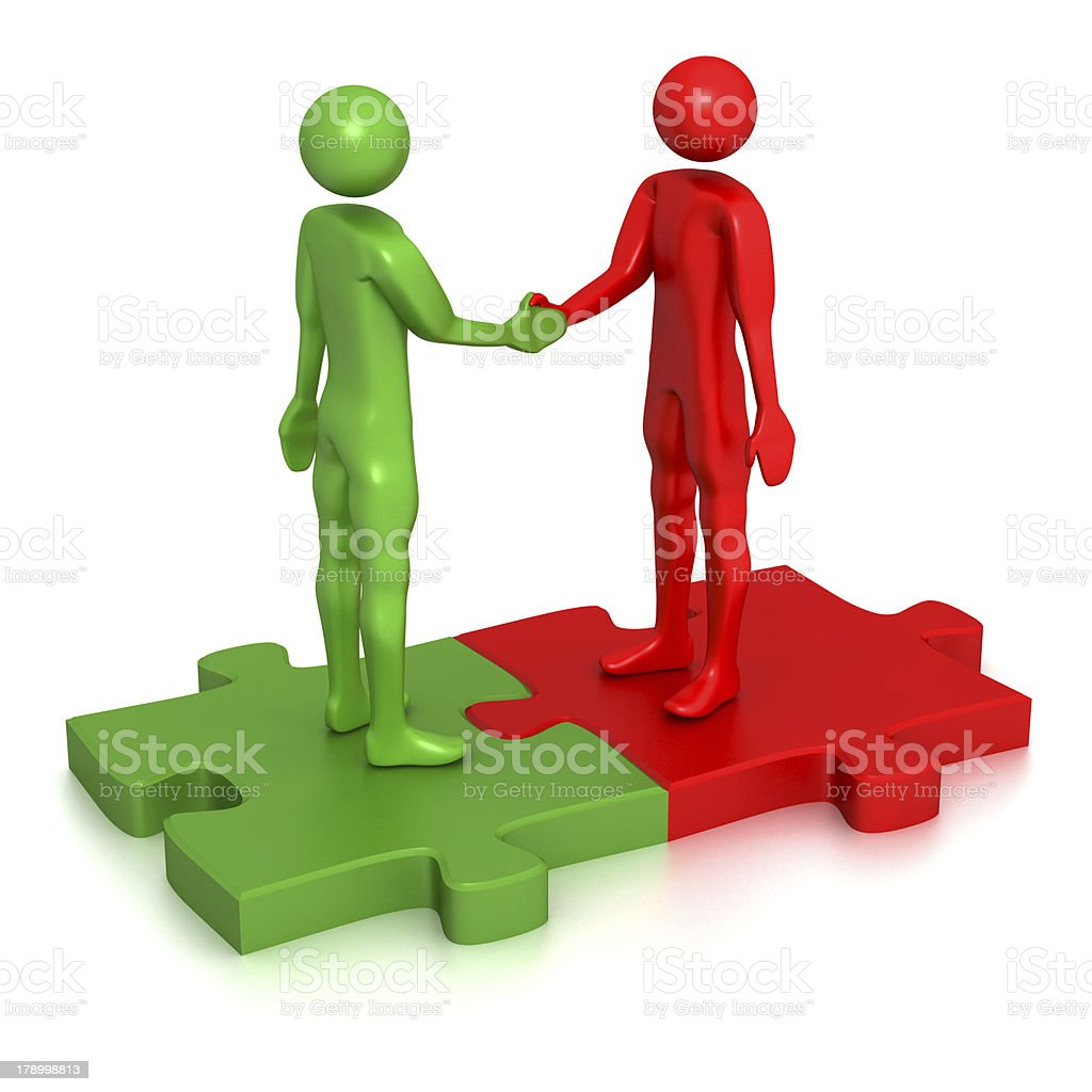 Joint venture royalty-free stock photo