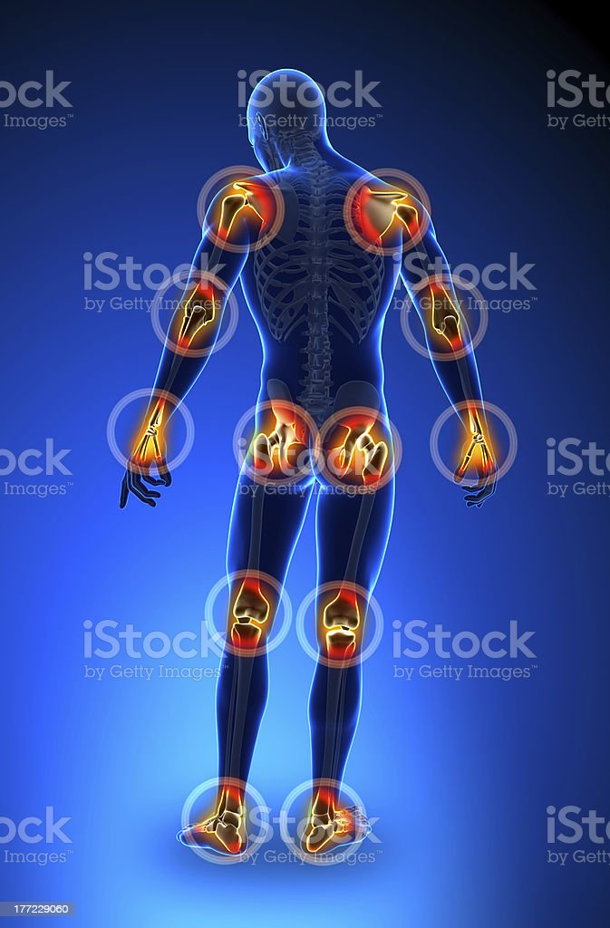 Joints pain - full figure stock photo