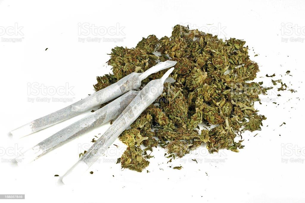 조인트부 marihuana 있는 royalty-free 스톡 사진