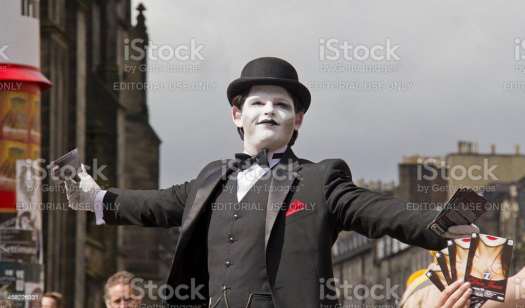 Joker at Edinburgh Festival stock photo