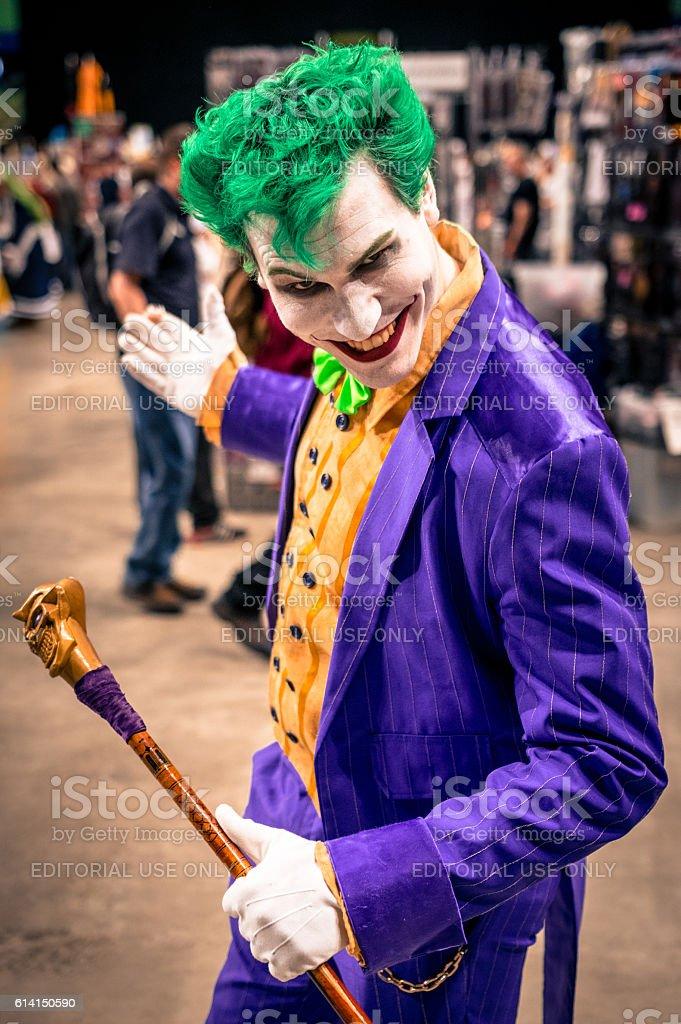 Joker Cosplay - foto stock
