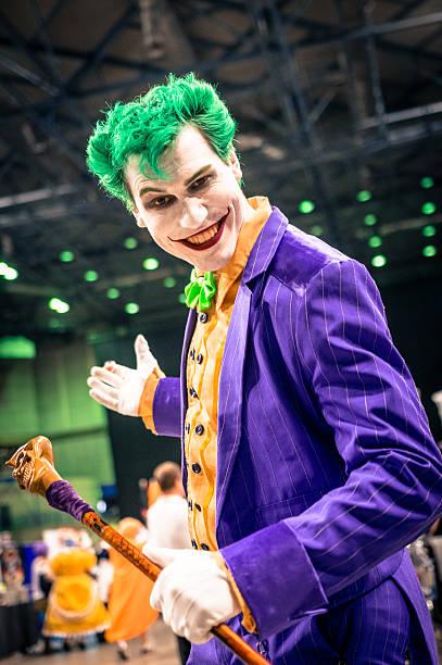 joker cosplay - yorkshire meridionale foto e immagini stock