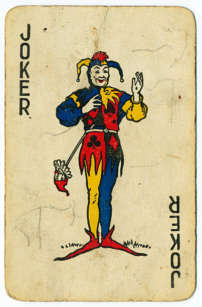 Royalty free joker card pictures images and stock photos istock joker old playing card from 1940s stock photo maxwellsz