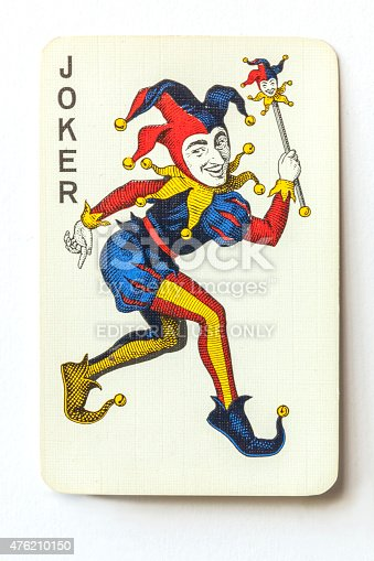 Joker On Vintage Playing Card Stock Photo & More Pictures ...