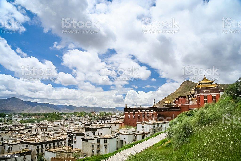 Jokhang monastery near Lhasa stock photo