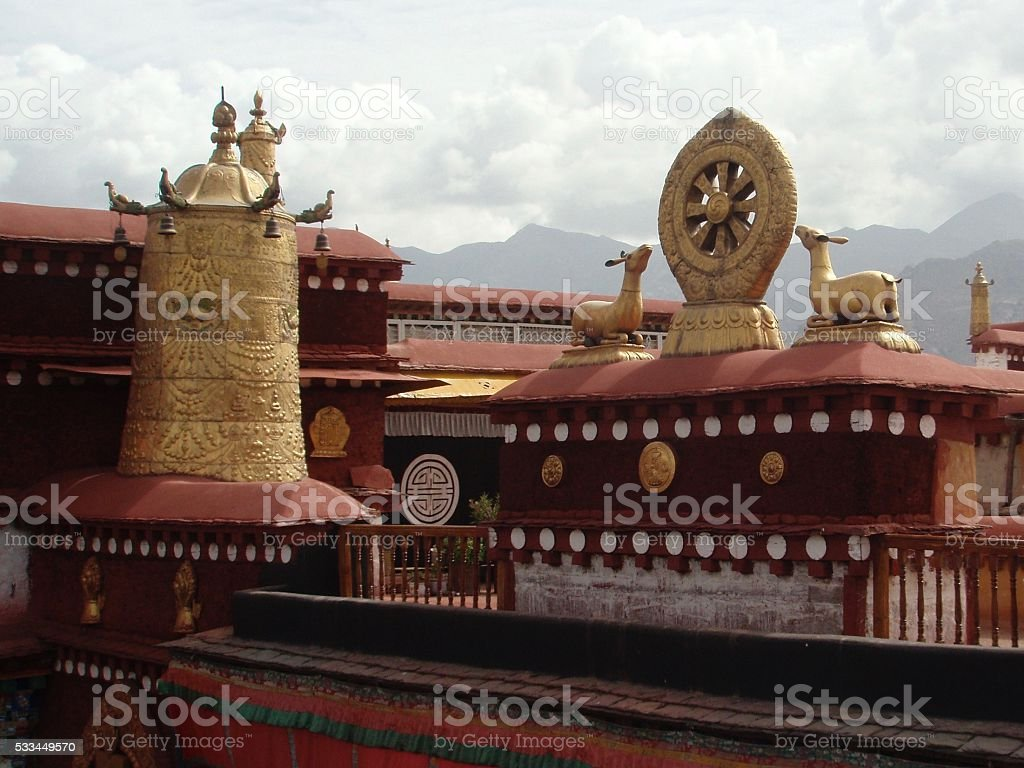 Jokkhang tempel in Lhasa stock photo