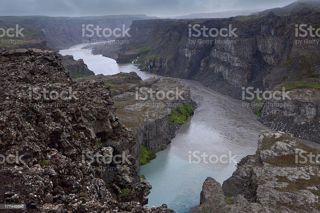 Jokulsa river canyon, Island stock photo
