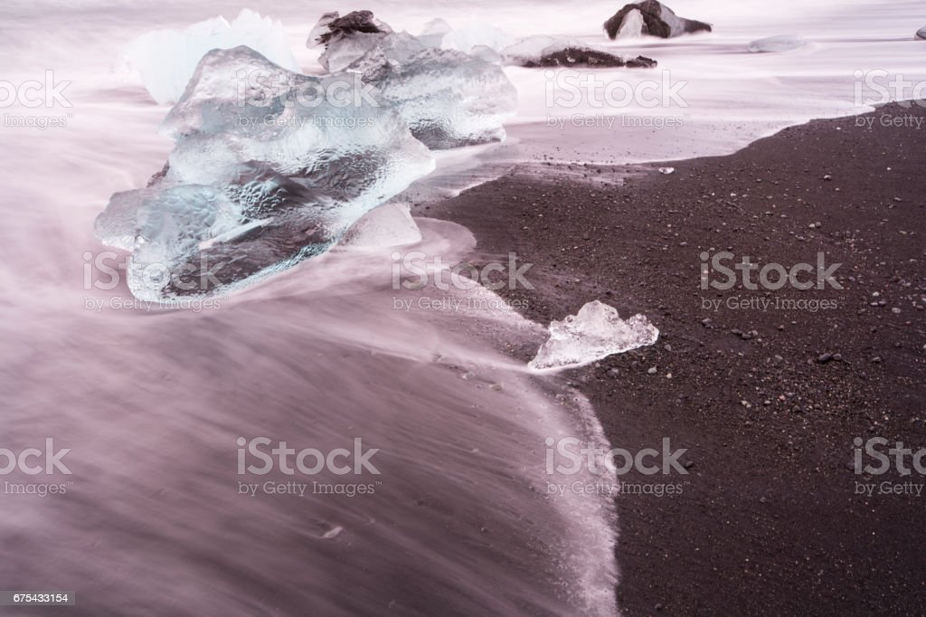 Jokulsarlon Beach - Glacier Lagoon royalty-free stock photo