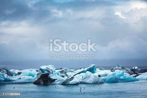 Jokulsarlon Glacial Lagoon in Iceland.