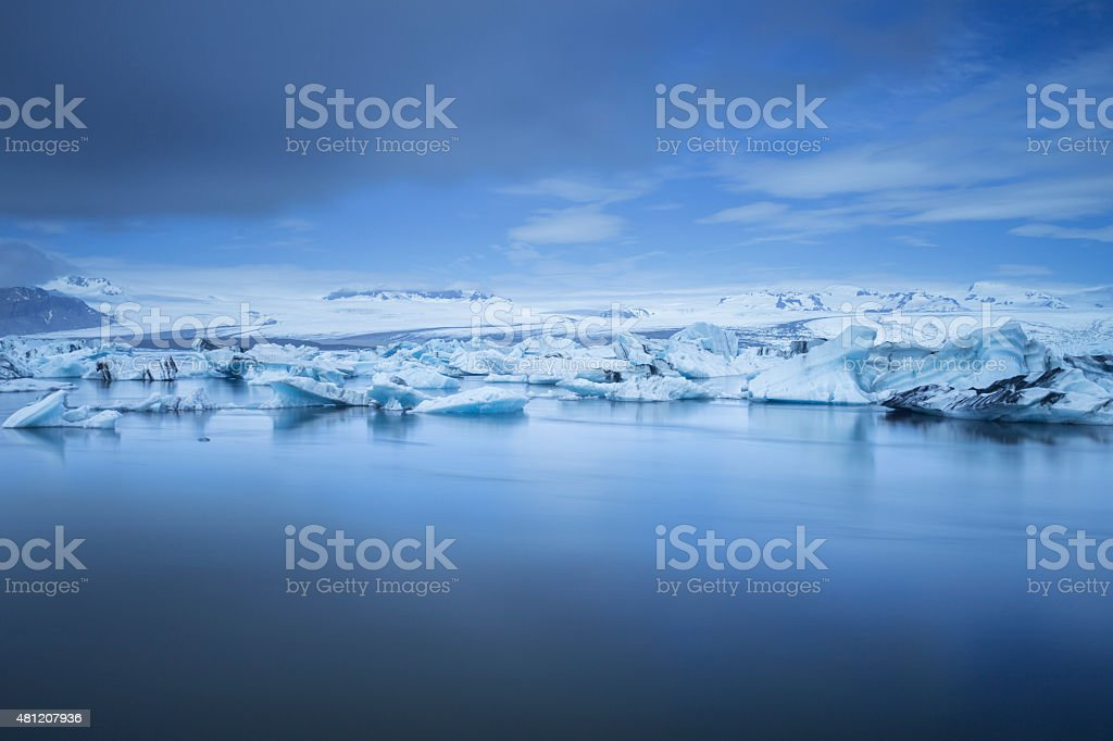Jokulsarlon Glacial Lagoon stock photo
