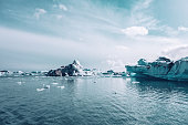 Jokulsarlon Glacial Lagoon in Southern Iceland