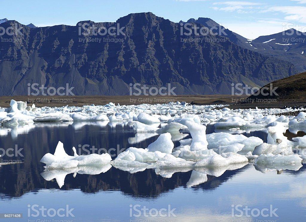 Jokulsarlon iceberg lagoon royalty-free stock photo