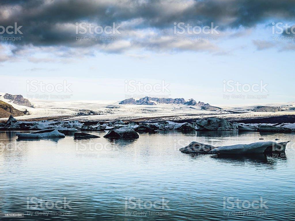 "Jokulsarlon Icebergs, Iceland ""Icebergs drifting in early morning sun from Vatnajokull glacier (largest glacier europe) into north atlantic. South East Iceland, Jokulsarlon Lagoon"" Arctic Stock Photo"