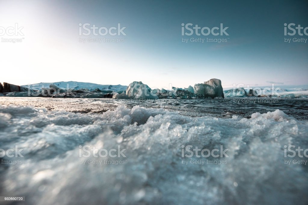 Jokulsarlon iced landscape stock photo