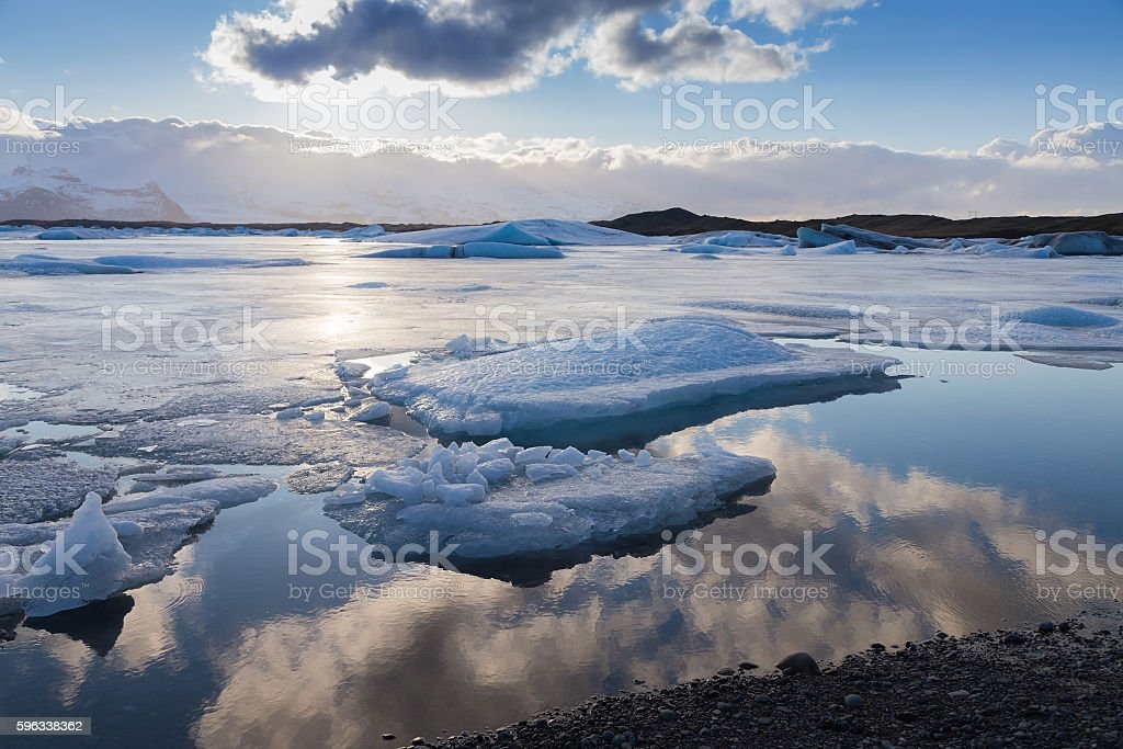 Jokulsarlon lagoon during rate winter season Lizenzfreies stock-foto