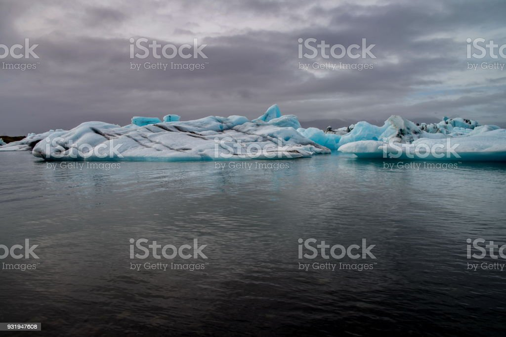 Jokulsarlon lagoon in Iceland stock photo