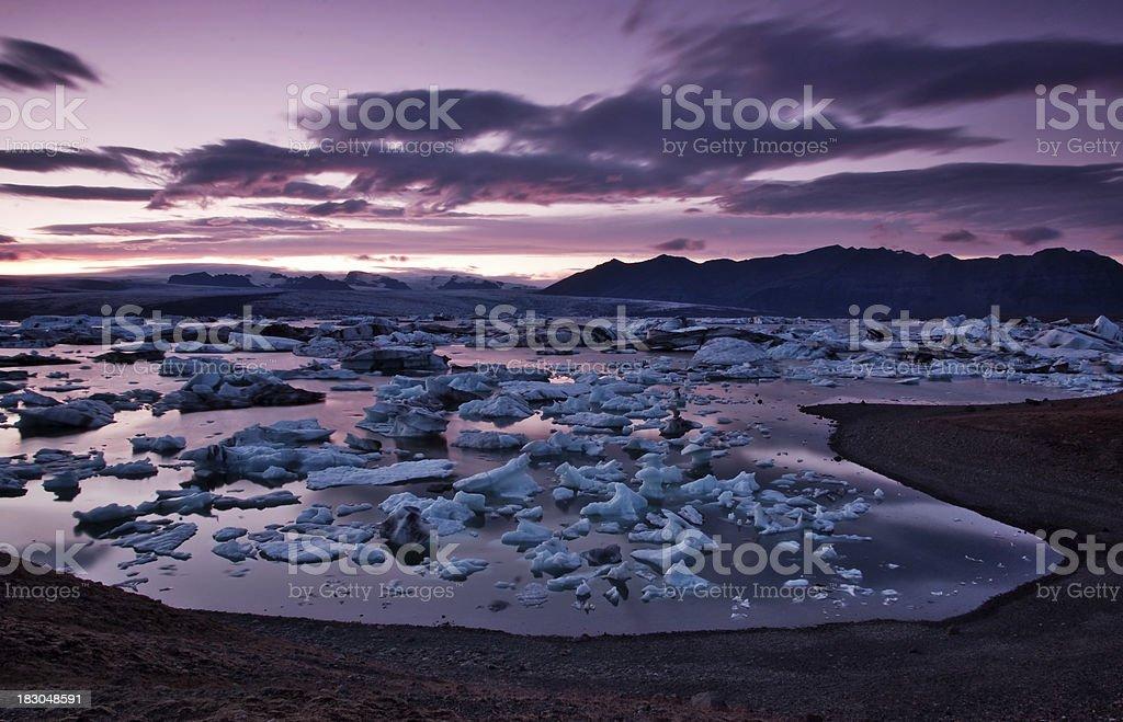 Jokulsarlon lagoon on Iceland stock photo