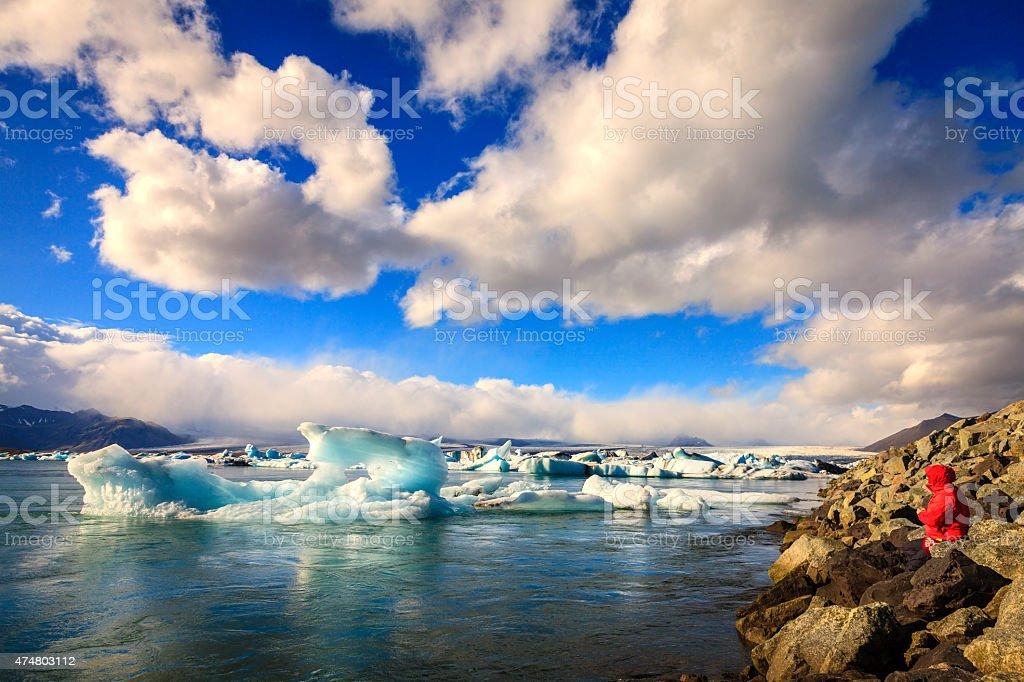 Jokulsarlon Lagoon stock photo