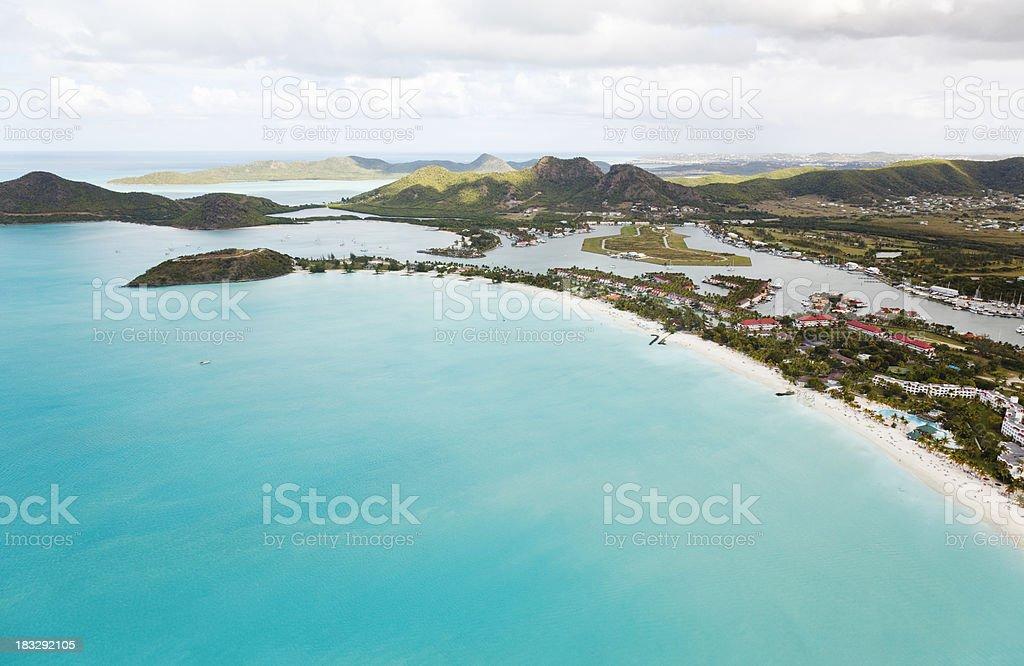 Jolly Beach Aerial View stock photo