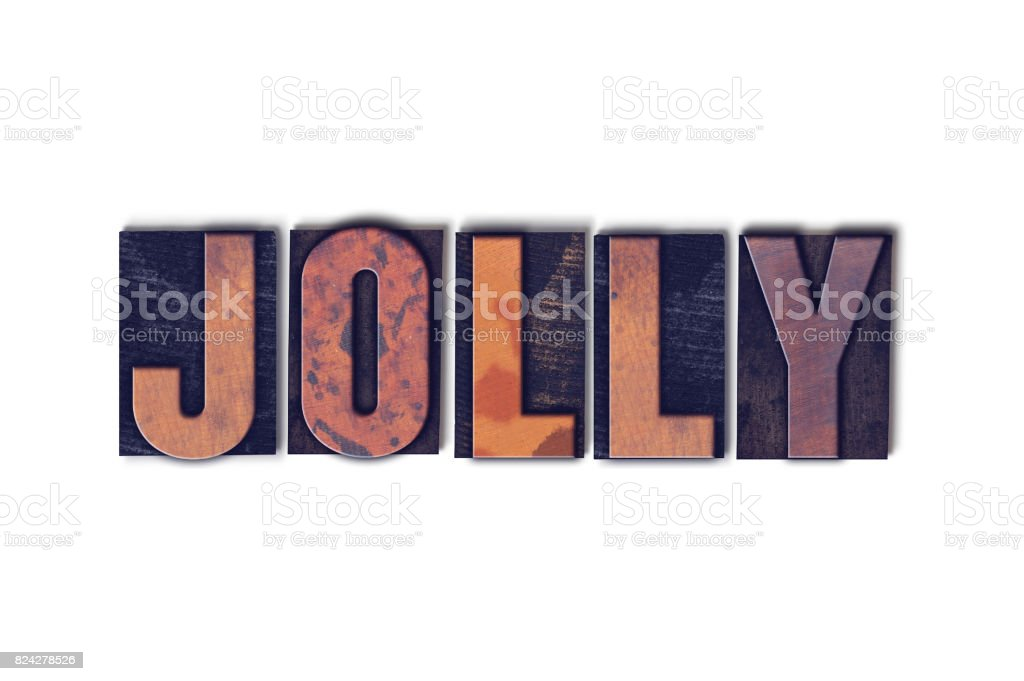 Jolly Concept Isolated Letterpress Word stock photo
