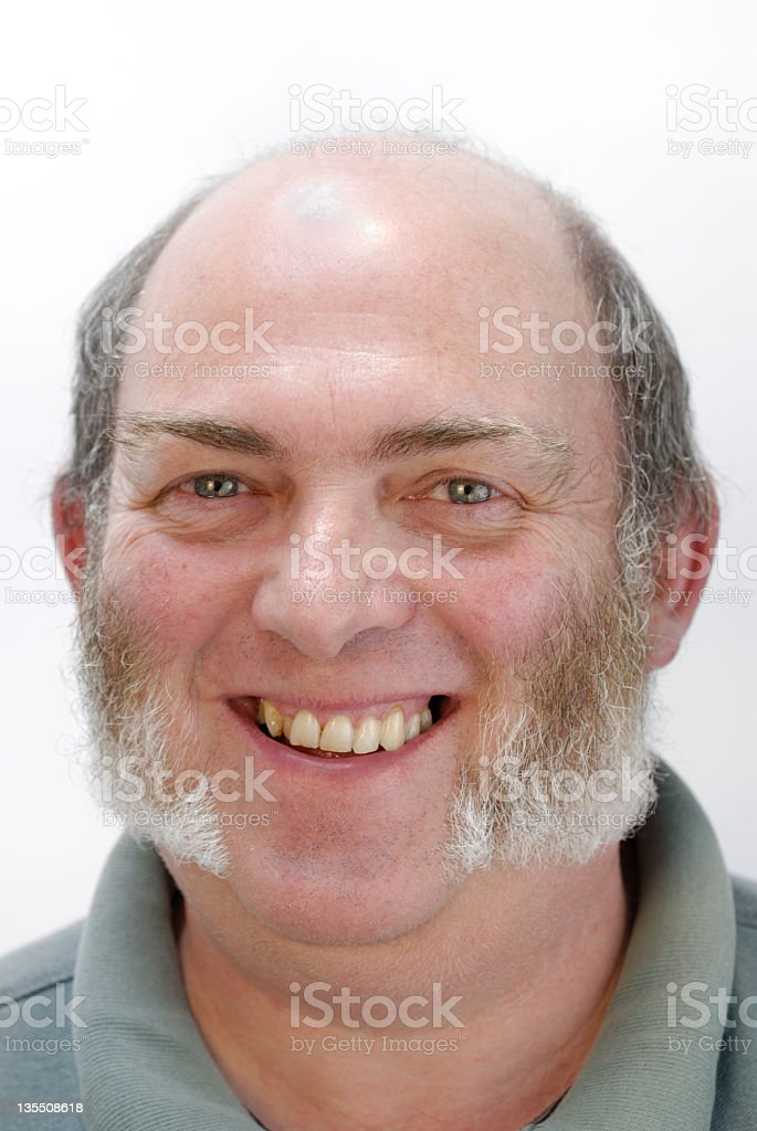Jolly man with sideburns stock photo