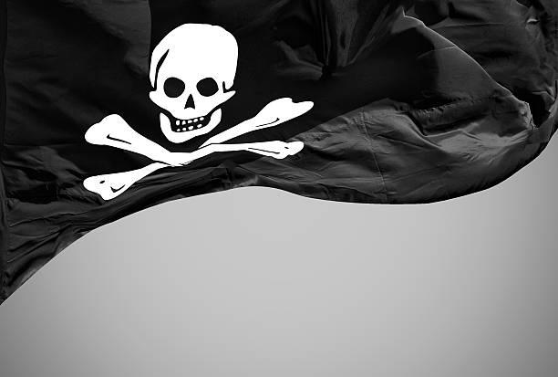 jolly roger bandera aislado - foto de stock