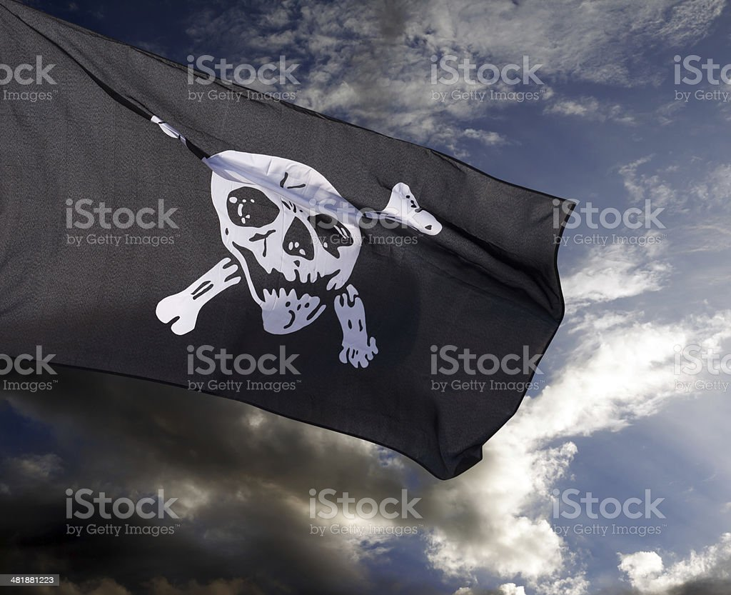 Jolly Roger (pirate flag) royalty-free stock photo
