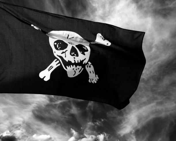 Jolly Roger (bandera pirata) - foto de stock