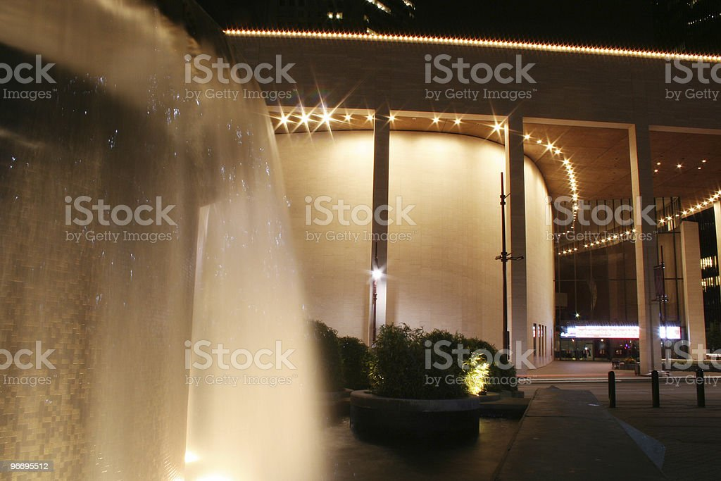Jones Hall for the Performing Arts in Houston, Texas. stock photo
