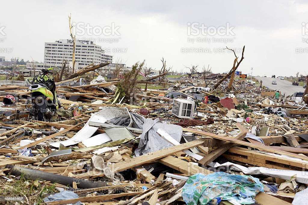 Joplin Missouri deadly F5 Tornado debris royalty-free stock photo