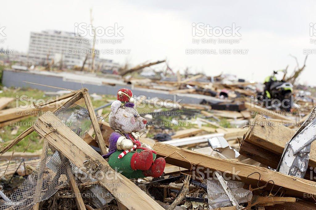 Joplin Missouri deadly F5 Tornado debris royalty-free stock photo