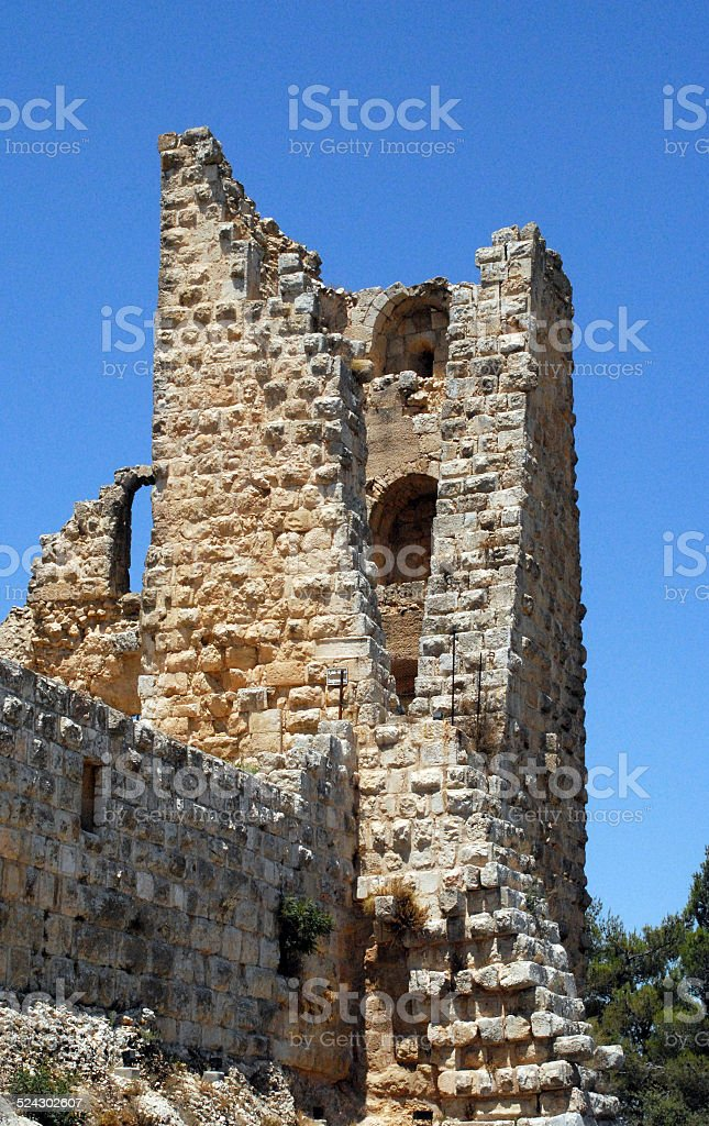 Jordan: Ajlun castle stock photo