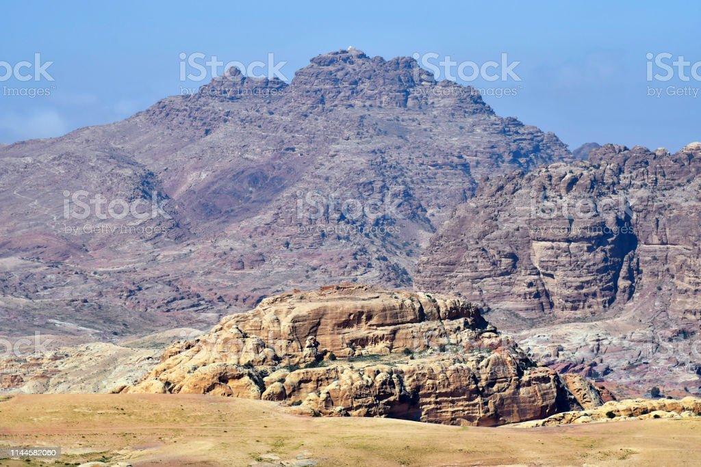 Jordan, desert landscape in Masuda Proposed Reserve near ancient...