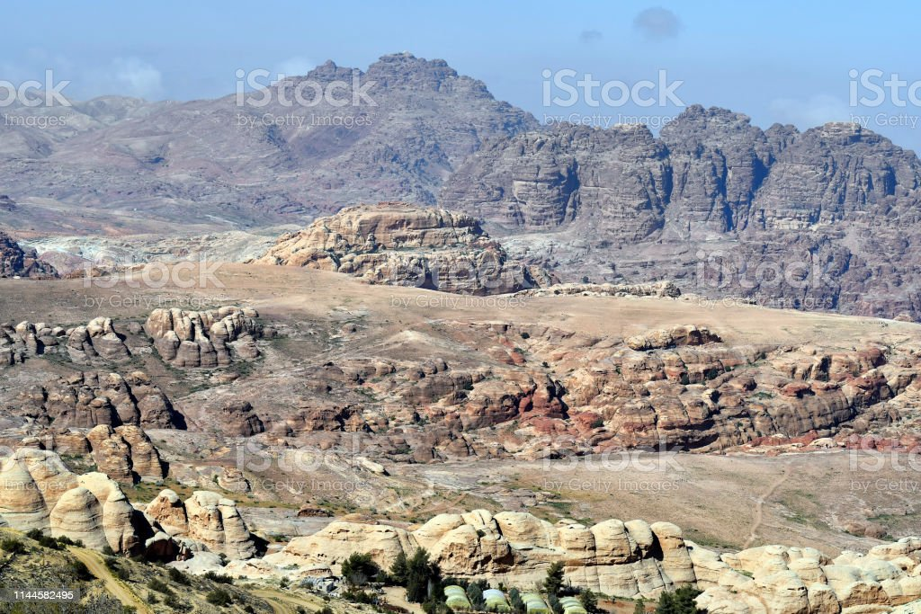 Jordan, arid landscape in Masuda Prposed Reserve at Wadi Musa