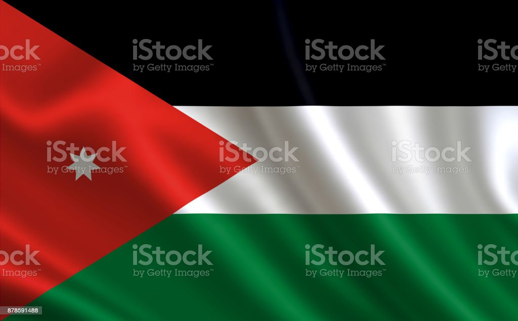 Jordan Flag A Series Of Flags Of The World Stock Photo 878591488