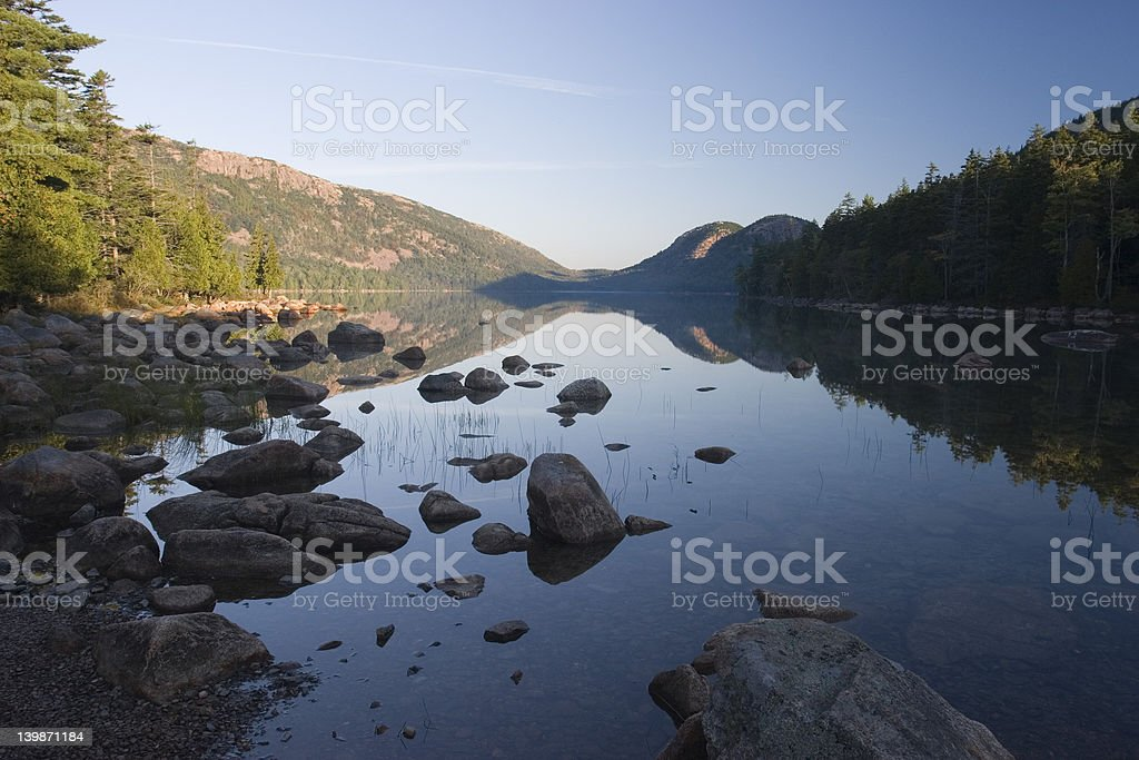 Jordan Pond, Acadia National Park royalty-free stock photo
