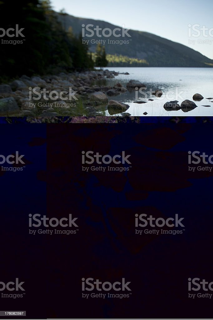Jordan Pond royalty-free stock photo