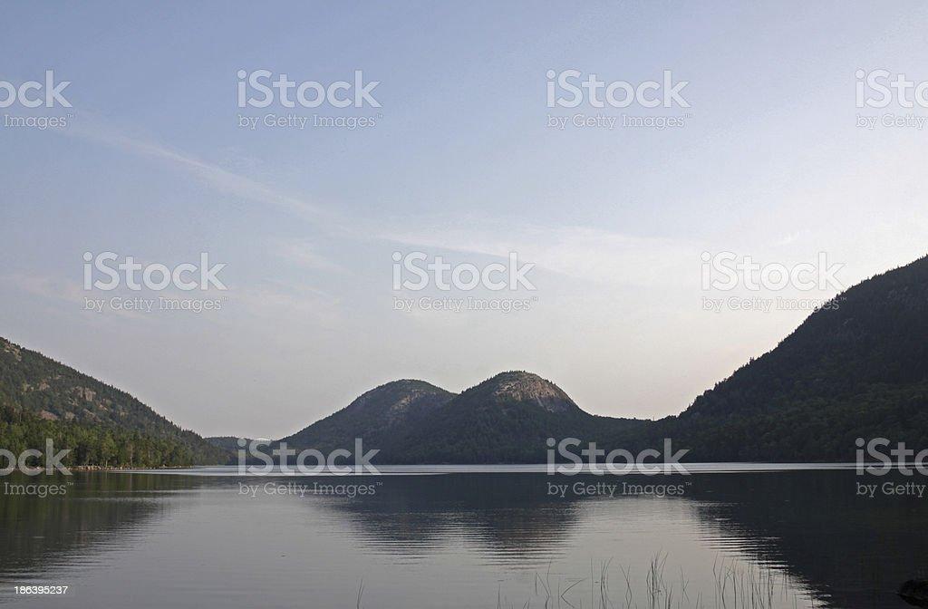 Jordan Pond Reflection royalty-free stock photo